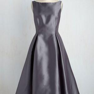 Steel Formal Midi Dress